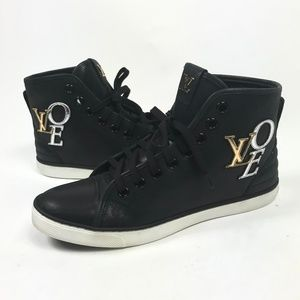Louis Vuitton  Punchy LOVE Leather Sneakers